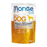 Monge Grill dog adult ricco in Pollo 100 gr.