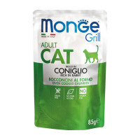 Monge Grill Adult Cat Bocconcini in Jelly Coniglio 85gr