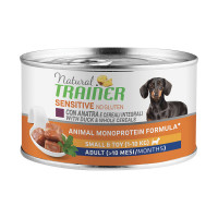 Natural Trainer Dog Sensitive No Gluten Small&Toy Adult con Anatra 150 gr.
