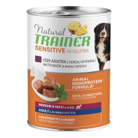 Natural Trainer Dog Sensitive No Gluten Medium&Maxi Adult con Anatra e Cereali integrali 400 gr.