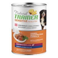 Natural Trainer Dog Sensitive No Gluten Medium&Maxi Adult con Maiale e Cereali integrali 400 gr.