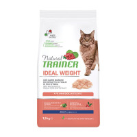 Natural Trainer Cat Ideal Weight Adult con Carni Bianche 1,5kg