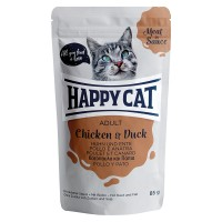 Happy Cat Meat in Sauce Adult Pollo e Anatra 85 gr.