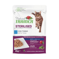 Natural Trainer Sterilised cat con Tonno 85 gr