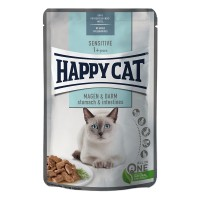 Happy Cat Adult Meat in Sauce Stomach & Intestines - Stomaco e Intestino Busta 85gr