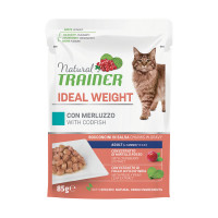 Natural Trainer Cat Ideal Weight Merluzzo 85 gr.