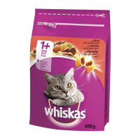 Whiskas Dry Cat Adult 1+ con Manzo 300gr
