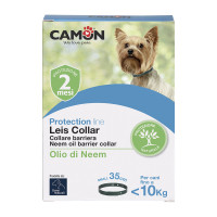 Camon Orme Naturali Leis Collar Collare Barriera all'olio di Neem Tg. S