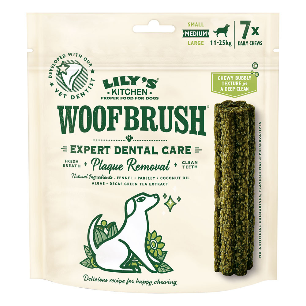 Lily's Kitchen Woof brush dental care Medium 7 pz