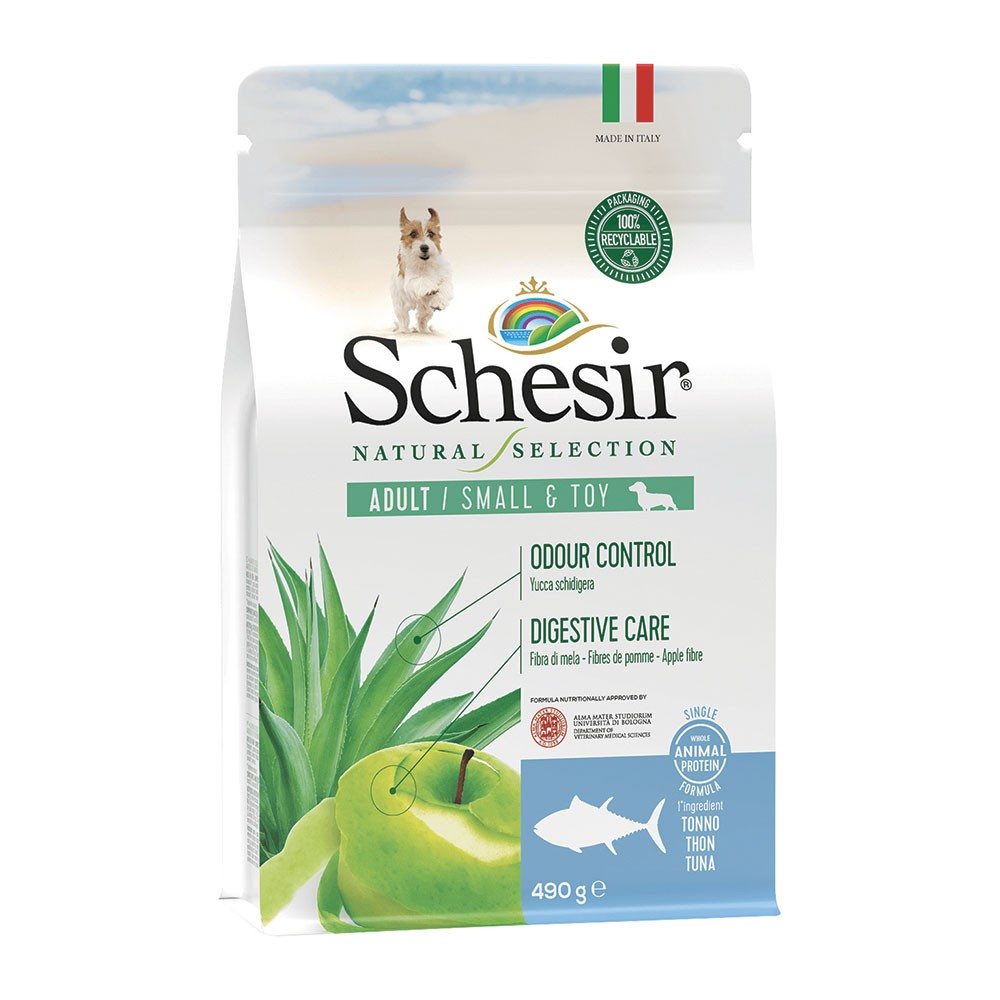 Schesir Natural Selection dog adult small&toy Tonno 490 gr.
