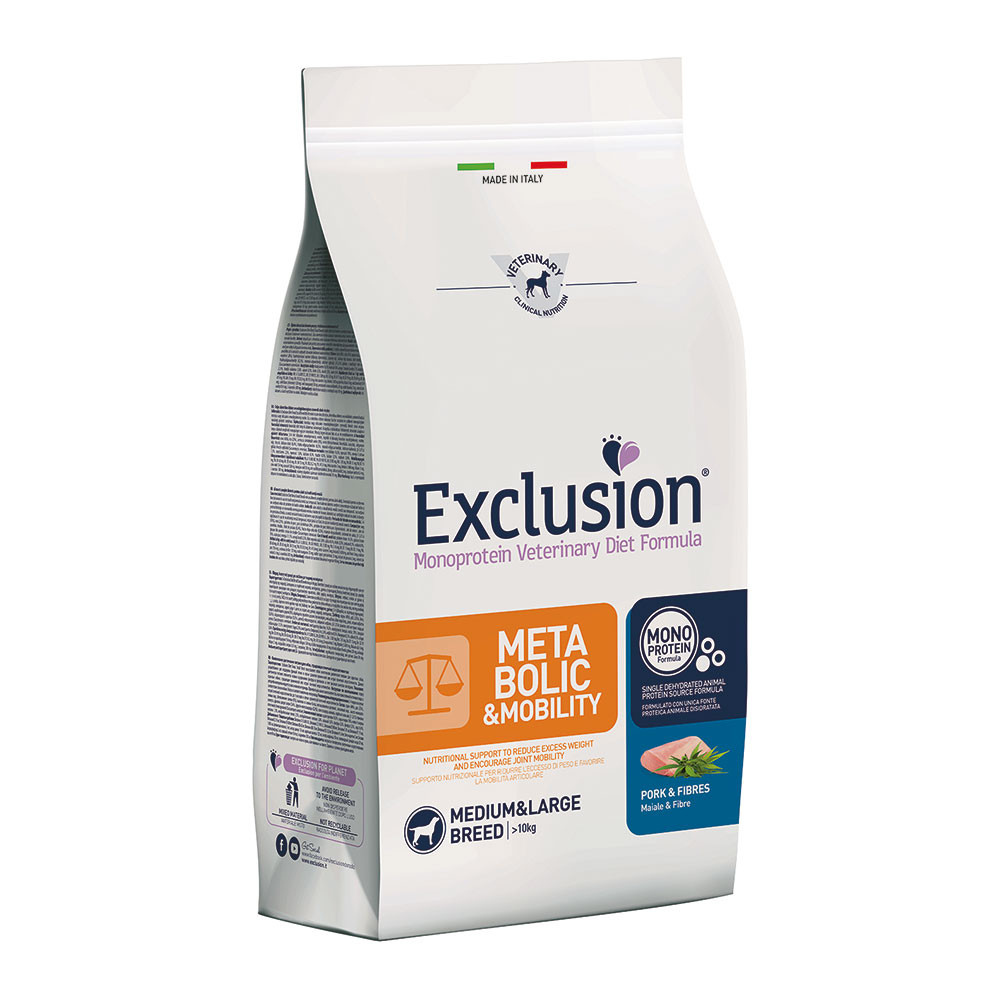 Exclusion Diet Metabolic & Mobility Medium / Large Breed Maiale 12 Kg