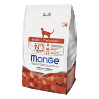 Monge Senior 7+ cat 400 gr pollo