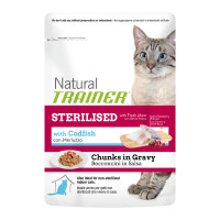 Natural Trainer Adult Sterilised Merluzzo 85 gr.