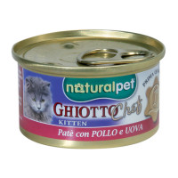 Naturalpet Ghiotto Chef Kitten 80 gr.